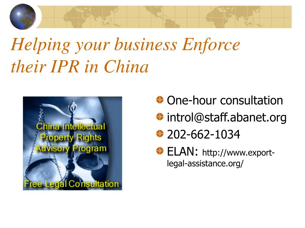 Helping your business Enforce their IPR in China