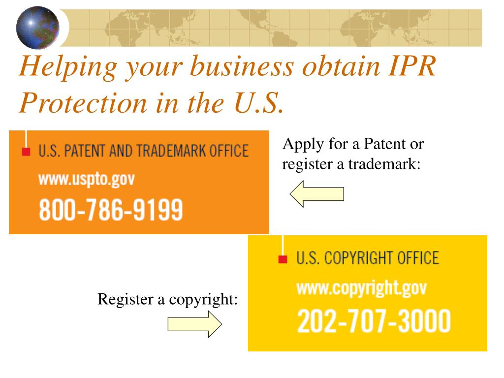 Helping your business obtain IPR Protection in the U.S.