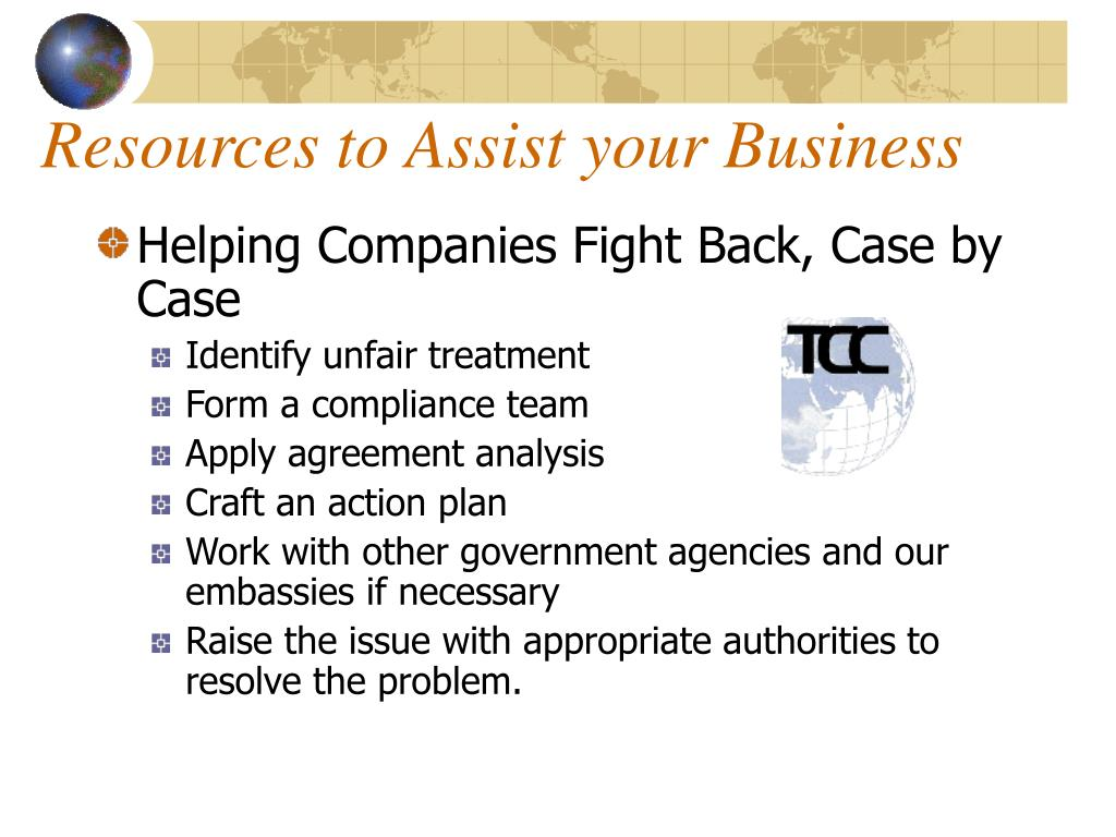 Resources to Assist your Business