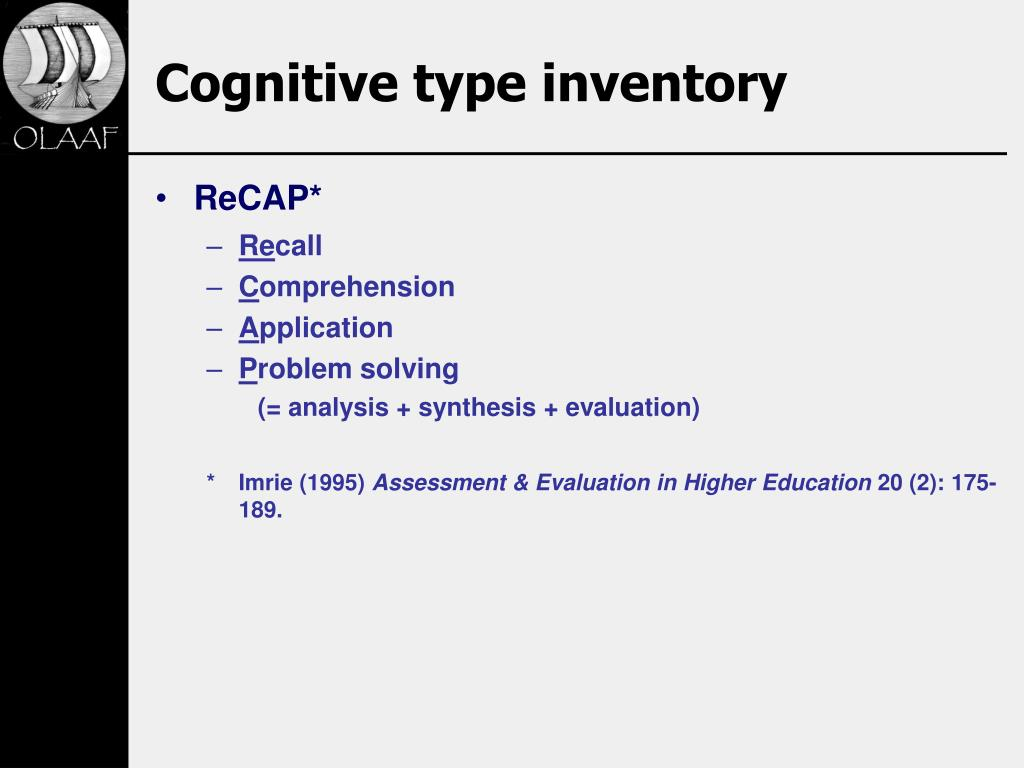 Cognitive type inventory