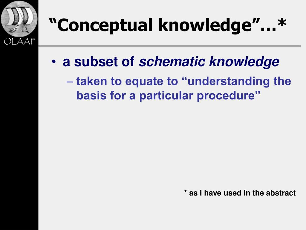 """Conceptual knowledge""…*"