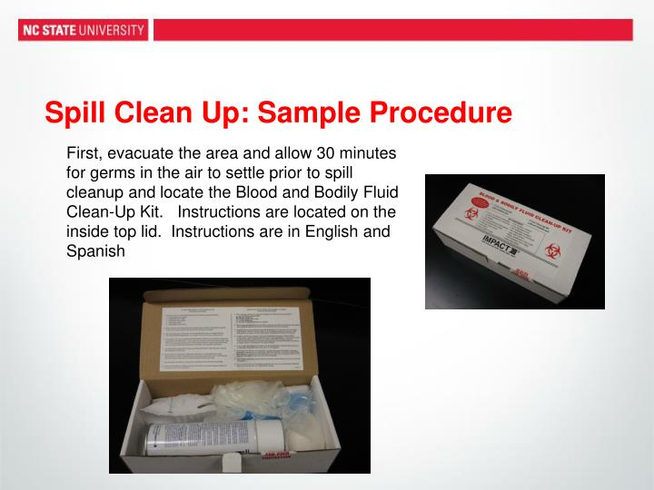 biohazard spill kit instructions