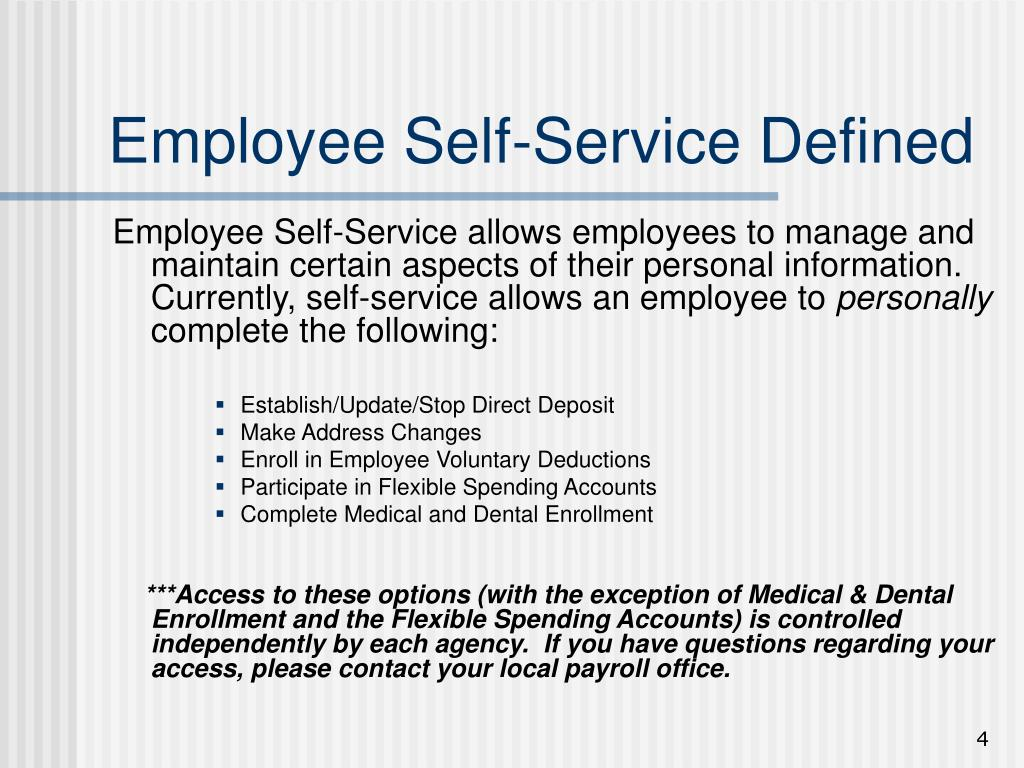 Employee Self-Service Defined