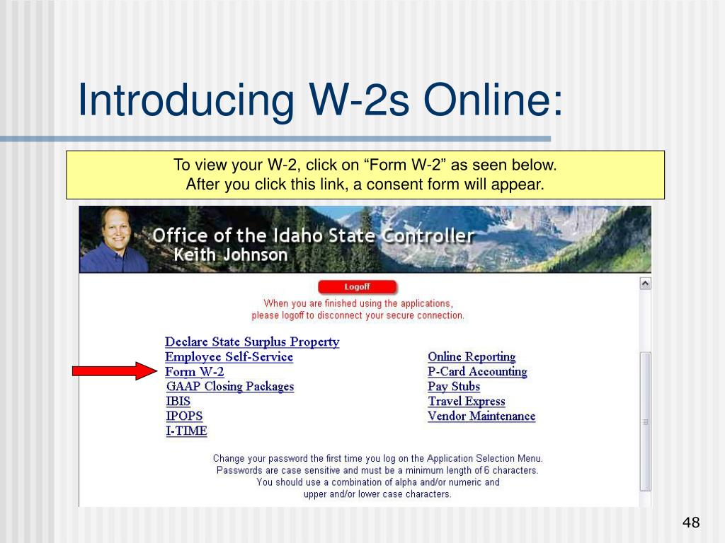 Introducing W-2s Online:
