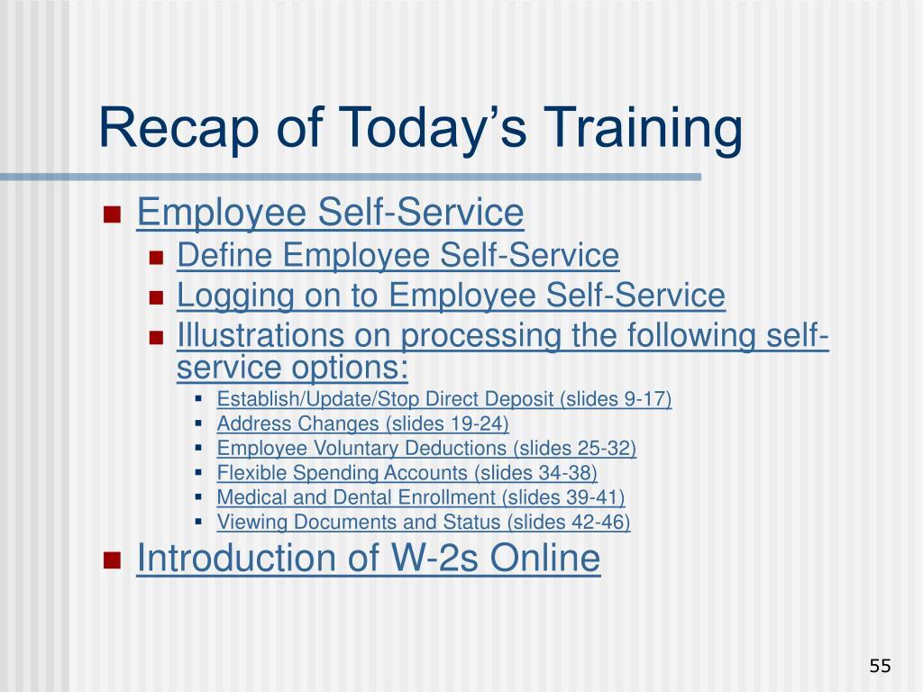 Employee Self-Service