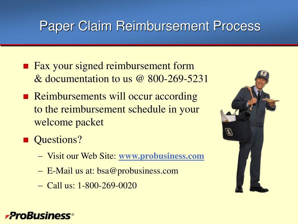 Paper Claim Reimbursement Process