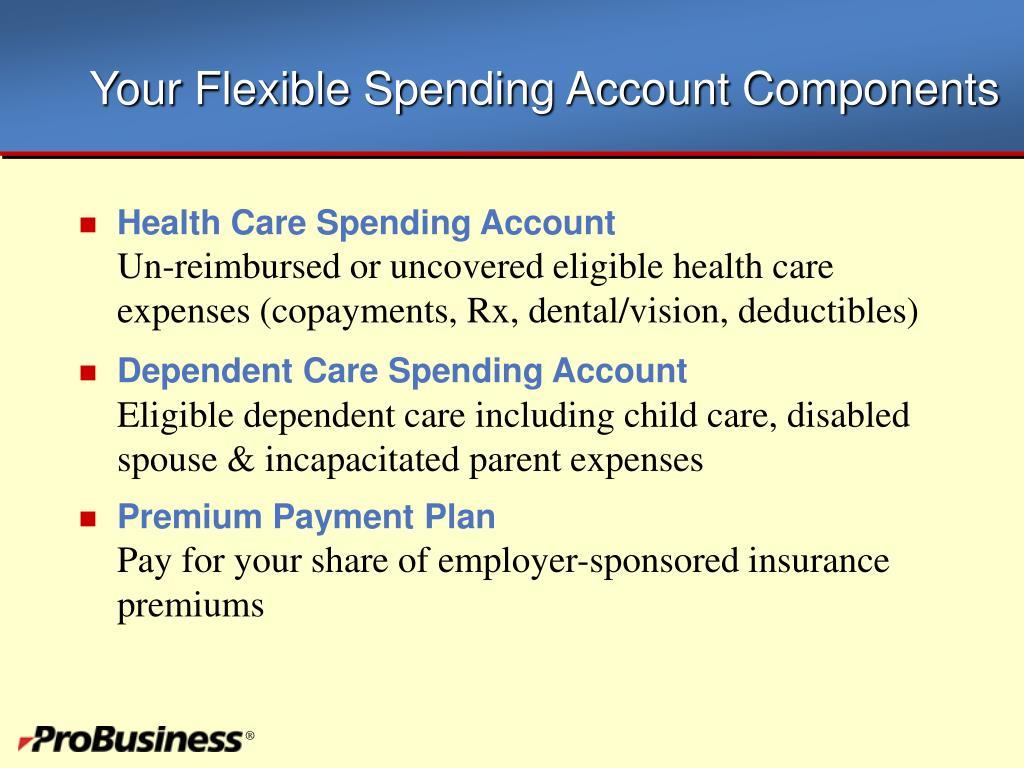 Your Flexible Spending Account Components