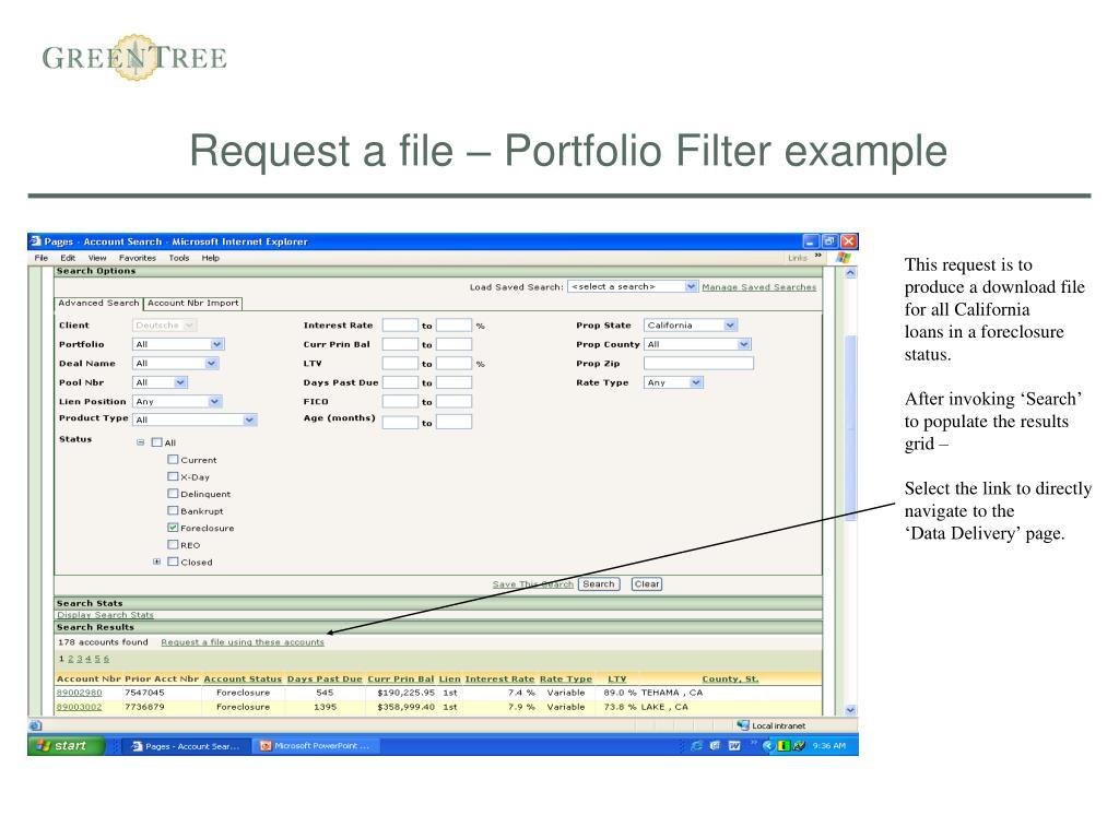 Request a file – Portfolio Filter example