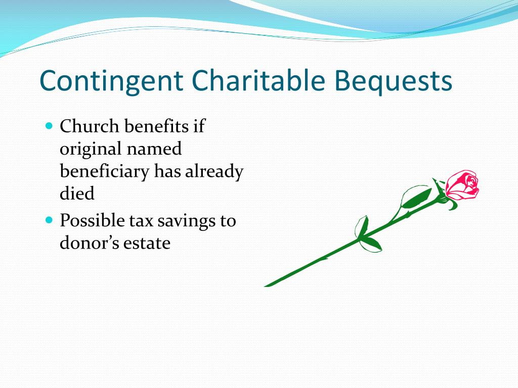 Contingent Charitable Bequests