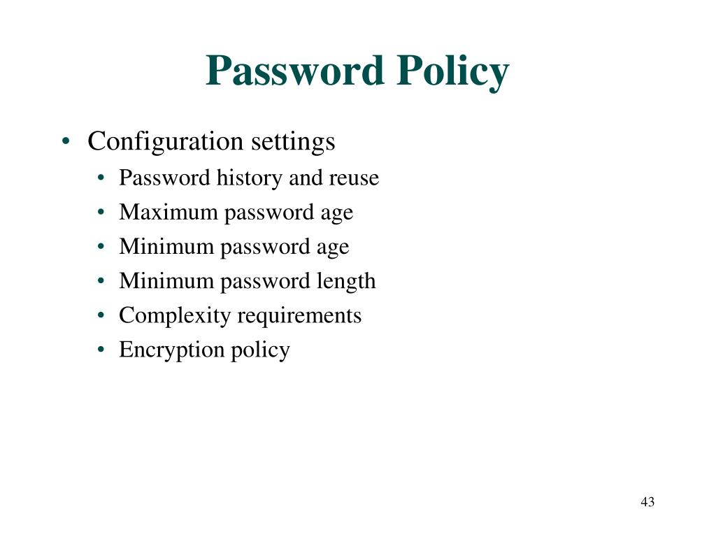 Password Policy