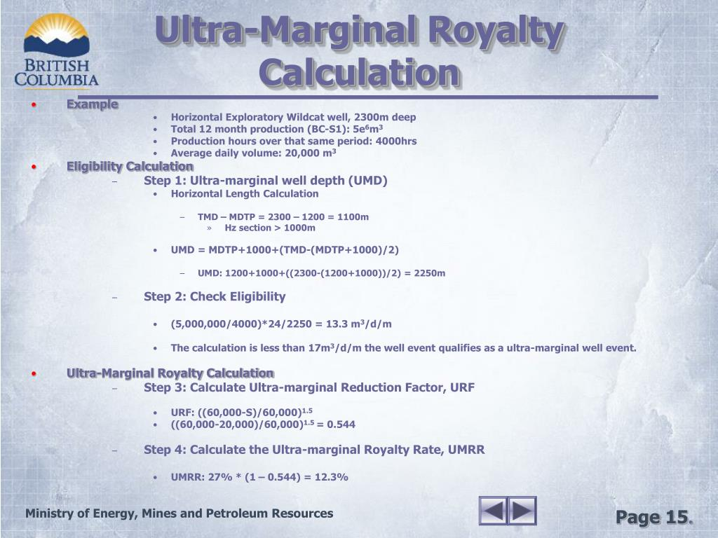 Ultra-Marginal Royalty Calculation