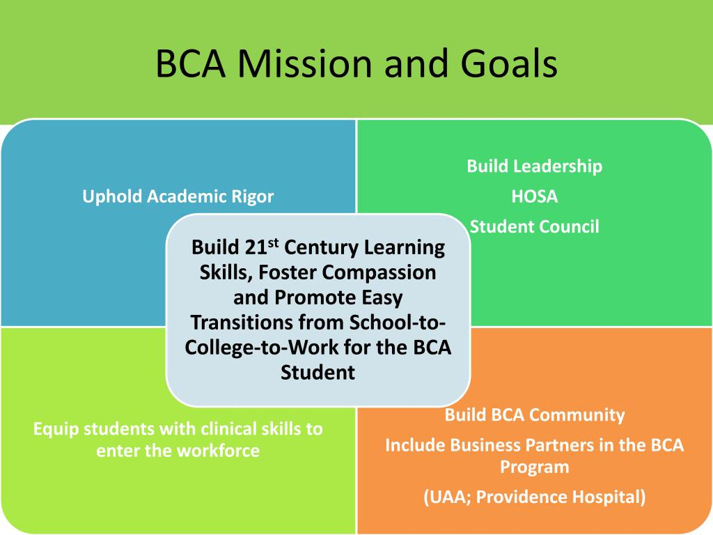 BCA Mission and Goals