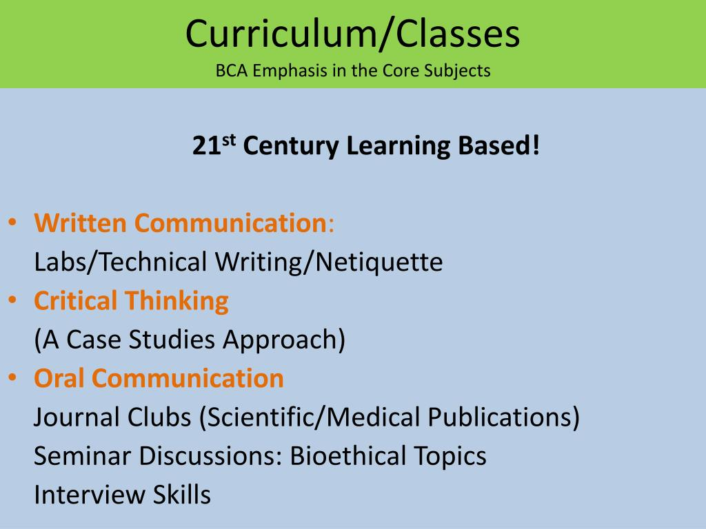Curriculum/Classes