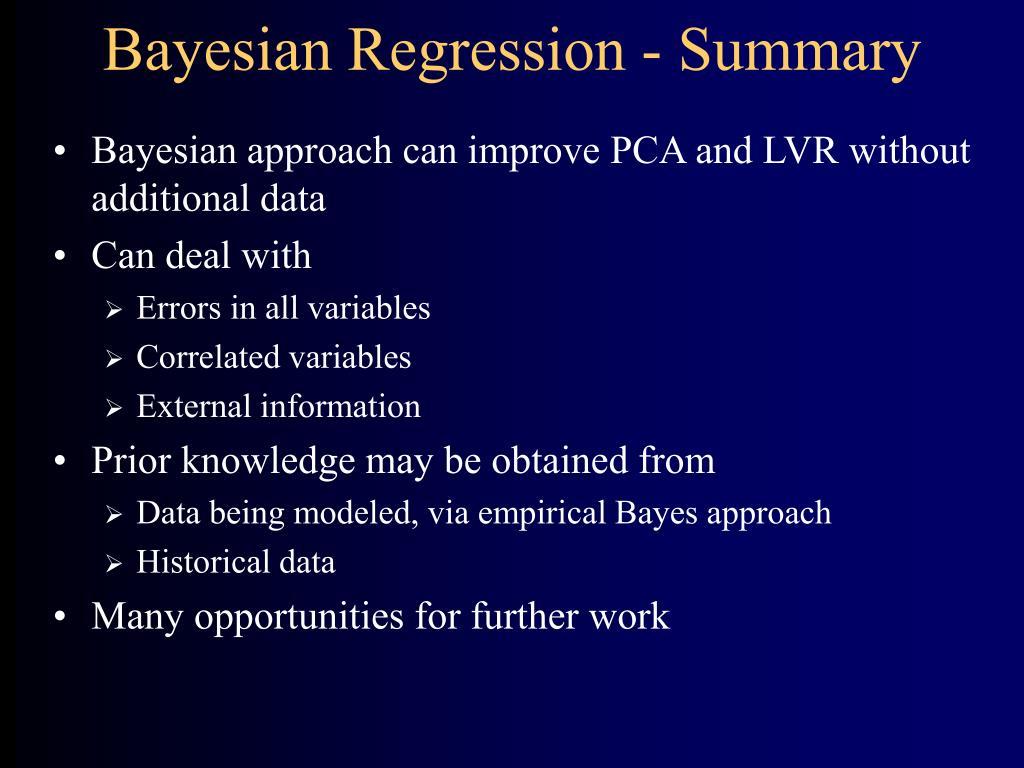 Bayesian Regression - Summary