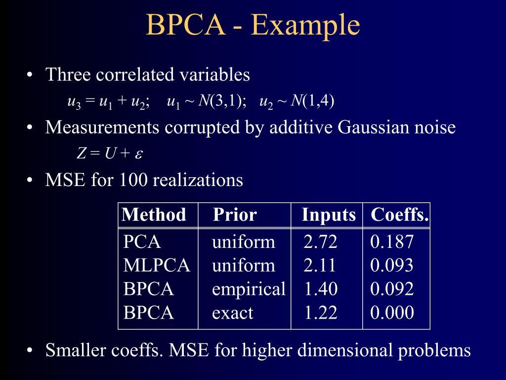 BPCA - Example