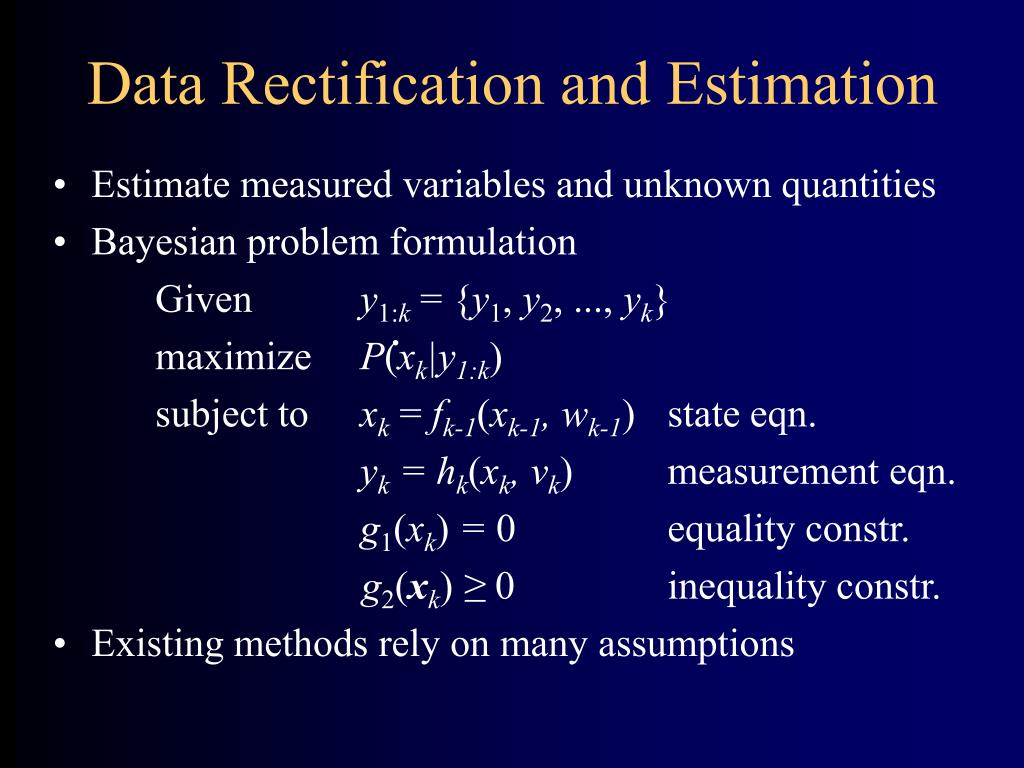 Data Rectification and Estimation