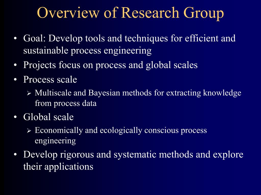 Overview of Research Group