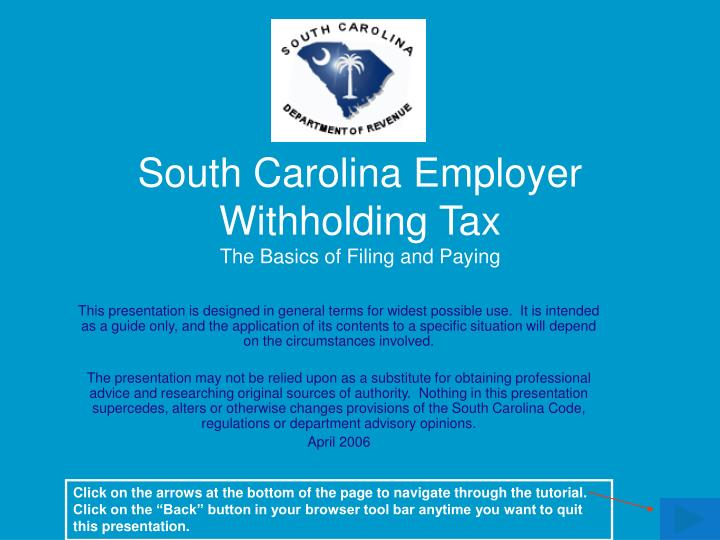 South carolina employer withholding tax the basics of filing and paying l.jpg