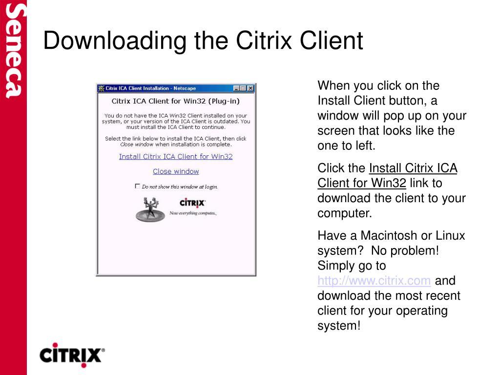 Downloading the Citrix Client