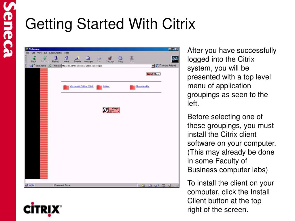 Getting Started With Citrix