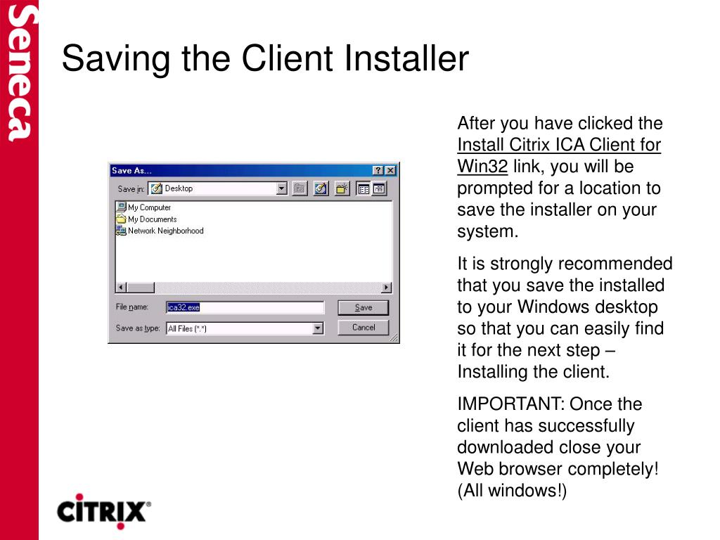 Saving the Client Installer
