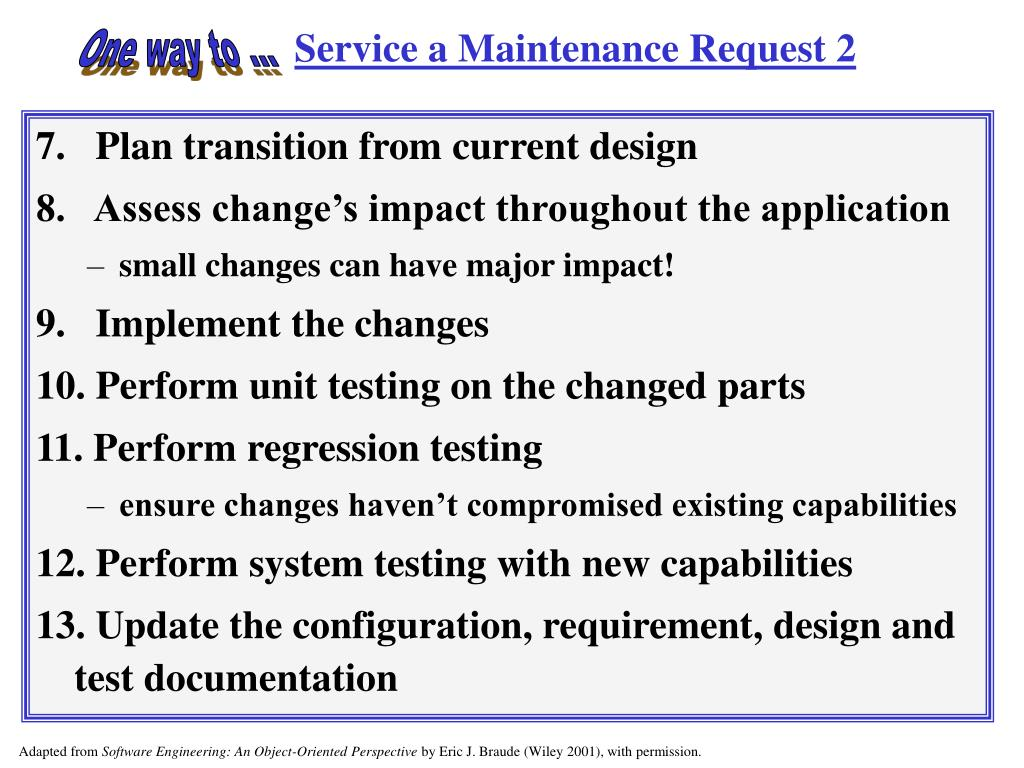 Service a Maintenance Request 2