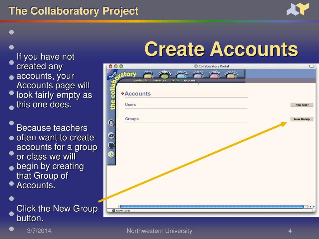 Create Accounts