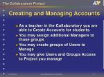creating and managing accounts17