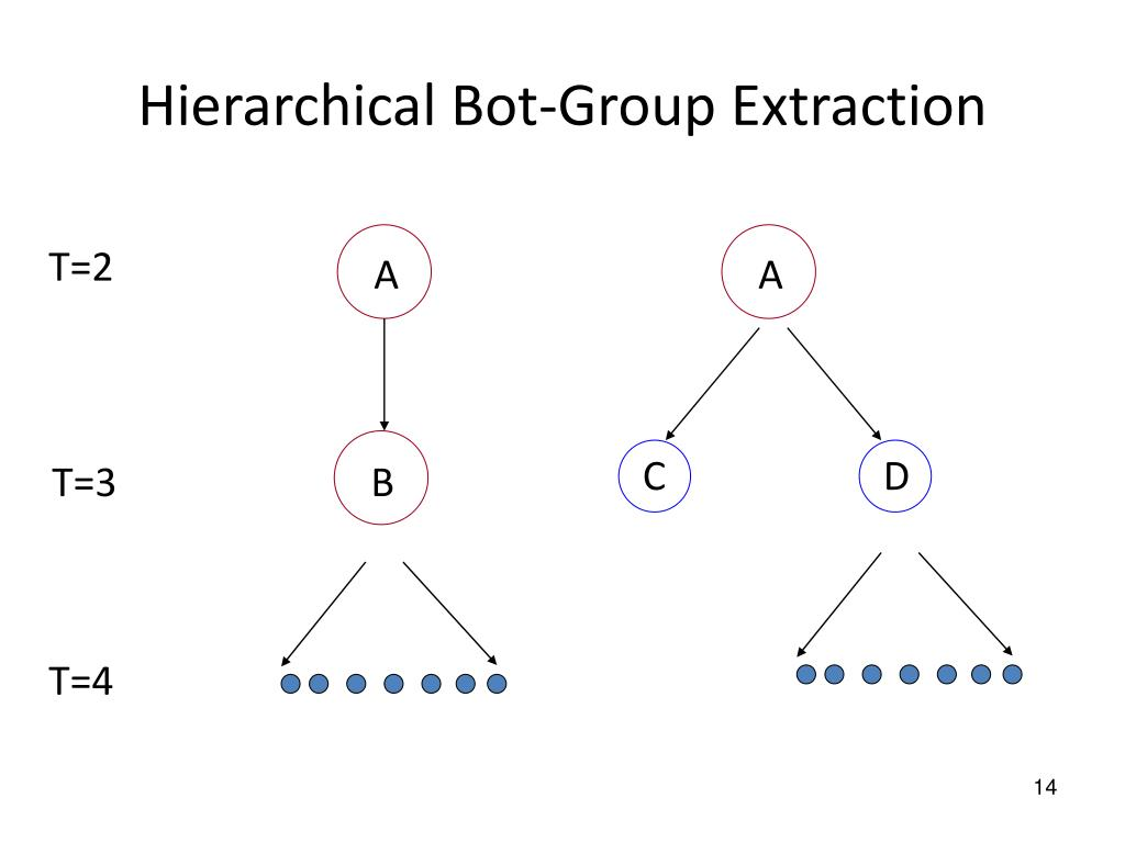 Hierarchical Bot-Group Extraction