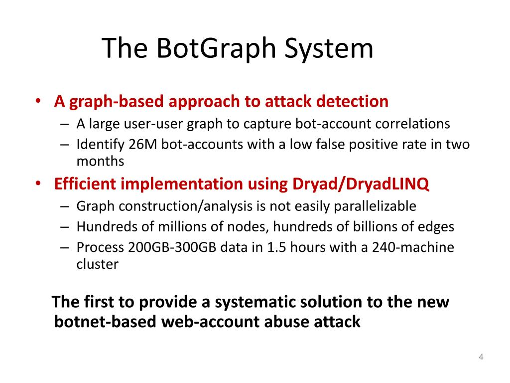 The BotGraph System