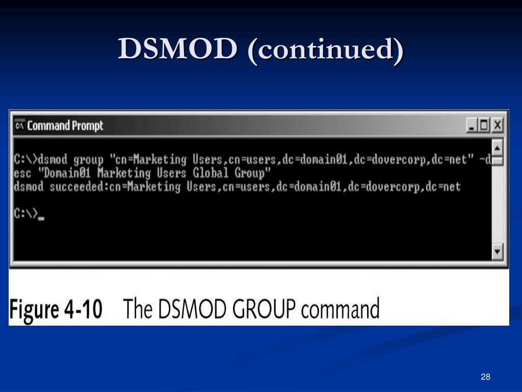 DSMOD (continued)
