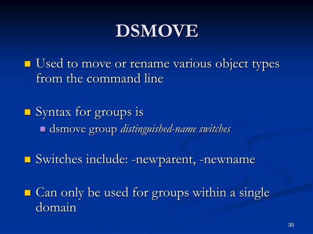 DSMOVE