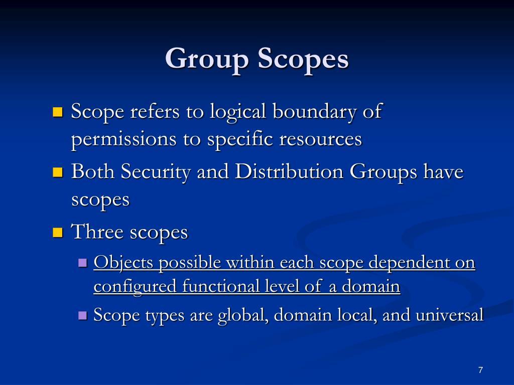 Group Scopes