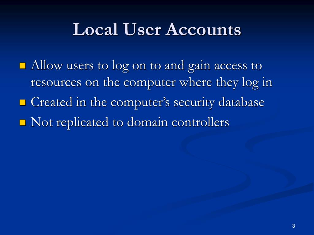 Local User Accounts
