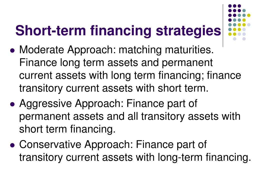 Short-term financing strategies