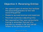 objective 4 reversing entries