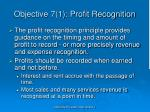 objective 7 1 profit recognition