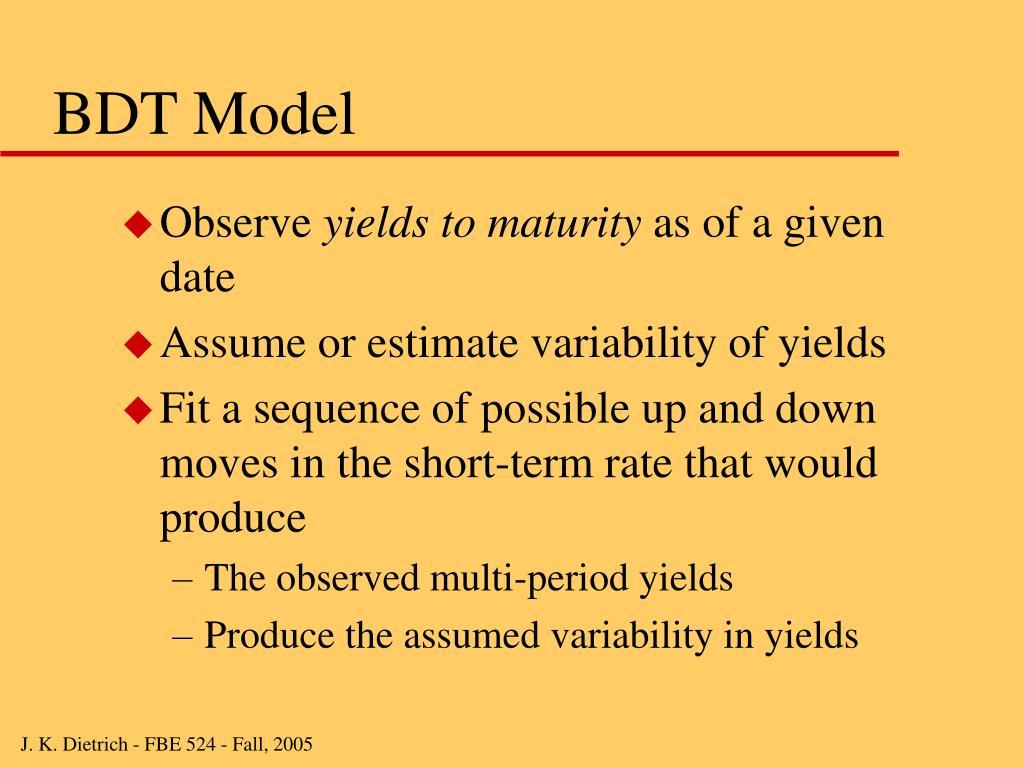 BDT Model