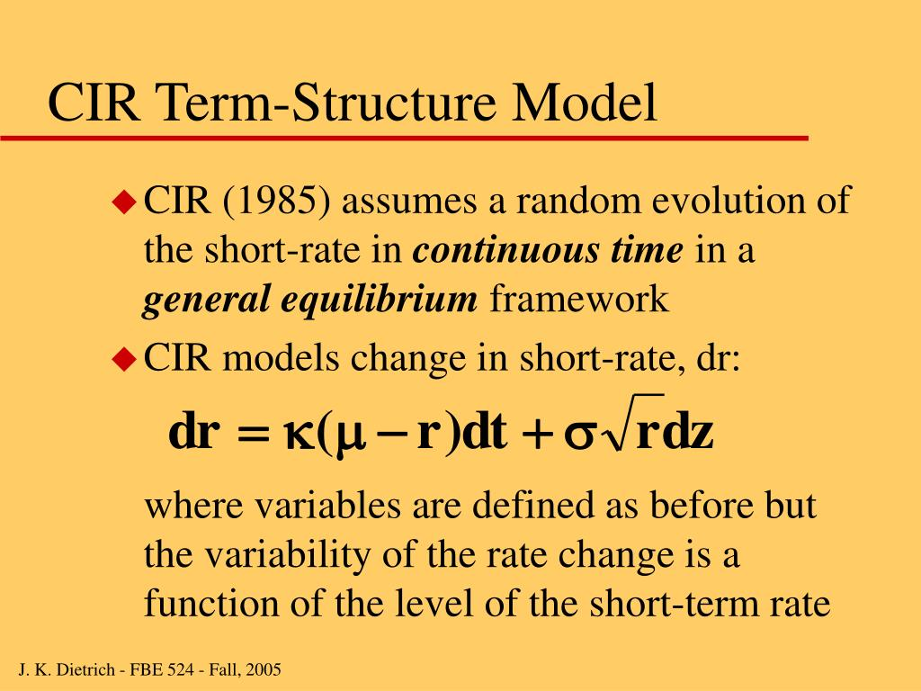 CIR Term-Structure Model
