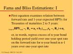 fama and bliss estimations i