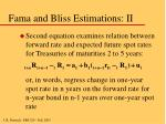 fama and bliss estimations ii