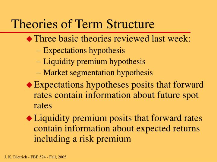Theories of term structure l.jpg