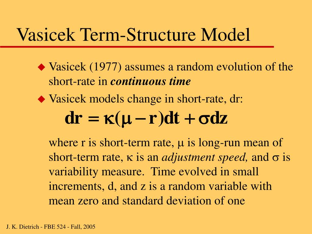 Vasicek Term-Structure Model