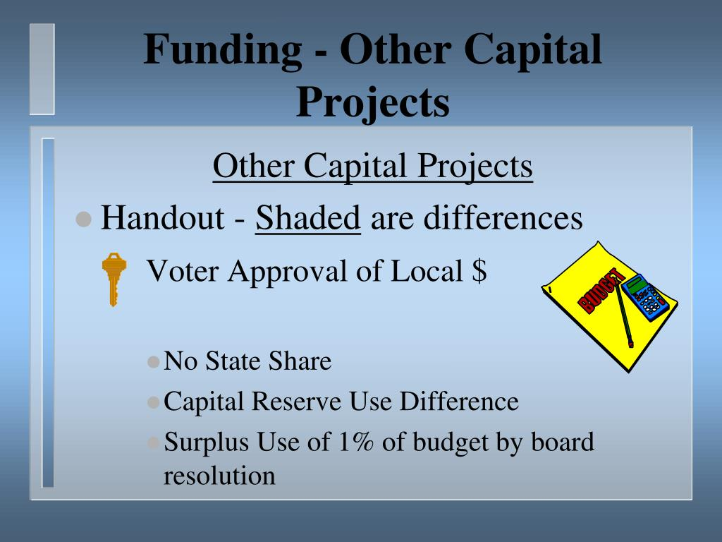 Funding - Other Capital Projects