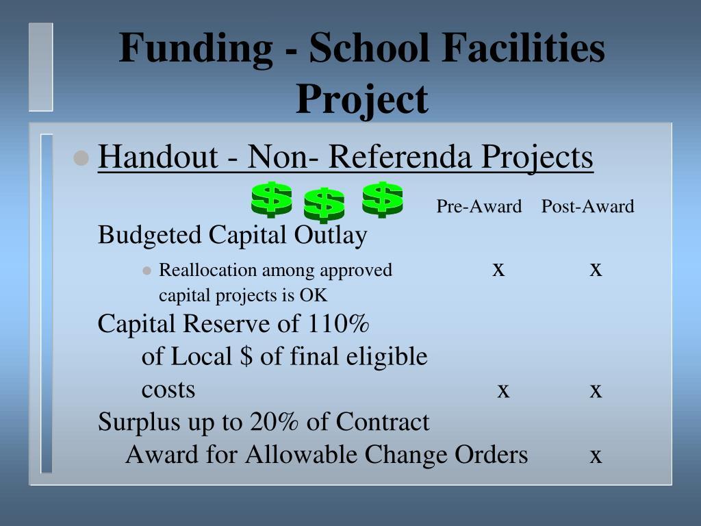 Funding - School Facilities Project