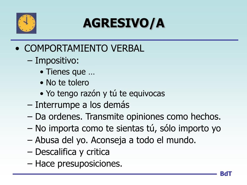 AGRESIVO/A