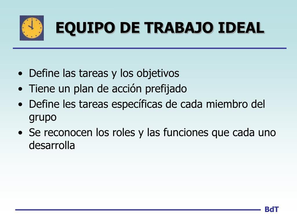 EQUIPO DE TRABAJO IDEAL