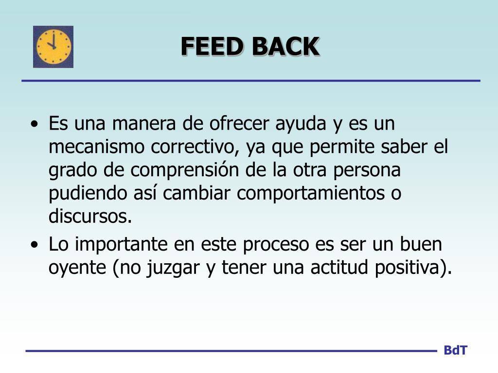 FEED BACK
