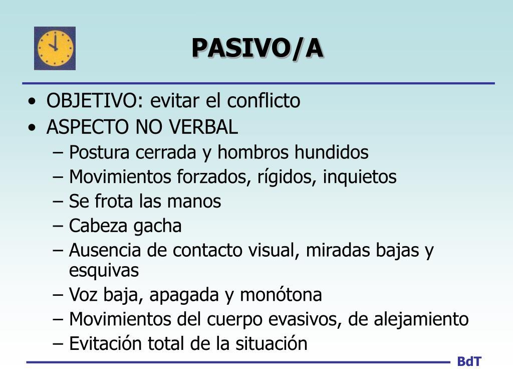 PASIVO/A
