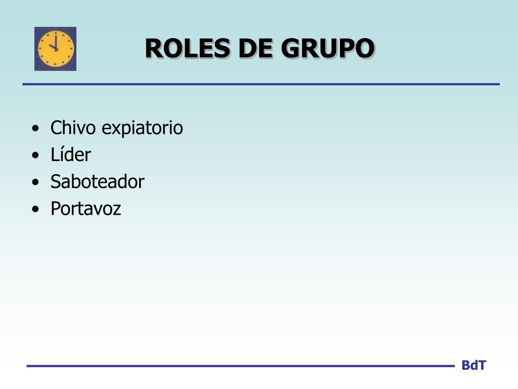 ROLES DE GRUPO